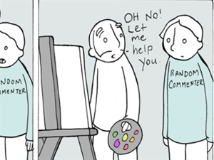 'Commenter' - from Lunarbaboon