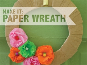 Make a paper wreath!
